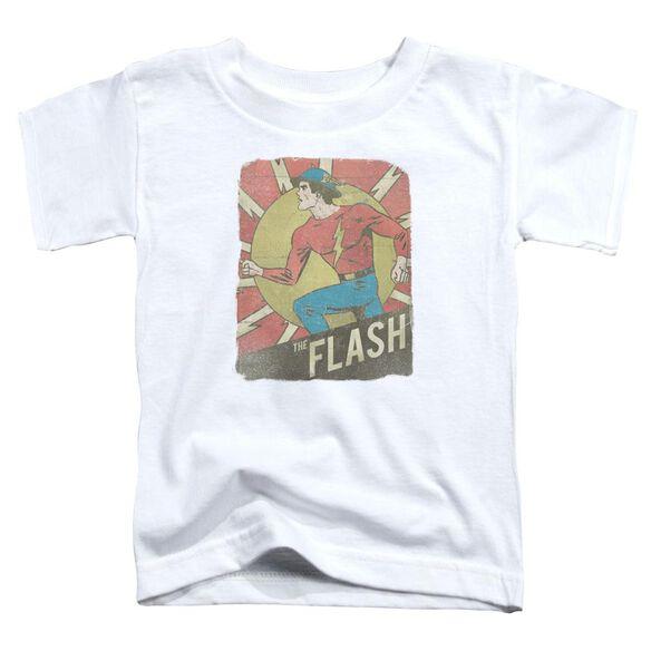Dc Flash Tattered Poster Short Sleeve Toddler Tee White T-Shirt