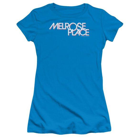 Melrose Logo Short Sleeve Junior Sheer T-Shirt