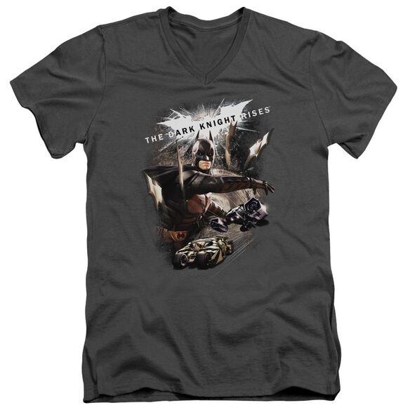 Dark Knight Rises Imagine The Fire Short Sleeve Adult V Neck T-Shirt