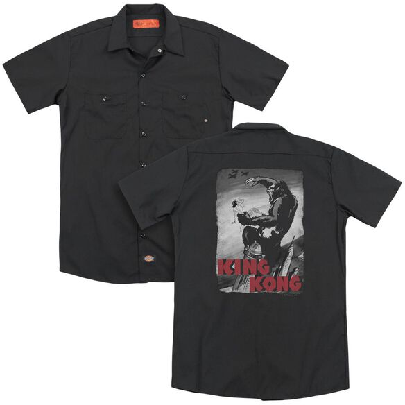 King Kong Planes Poster (Back Print) Adult Work Shirt