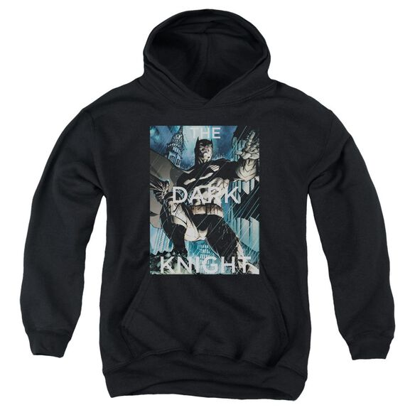 Batman Fighting The Storm Youth Pull Over Hoodie