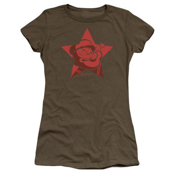 Popeye Red Star Premium Bella Junior Sheer Jersey Military