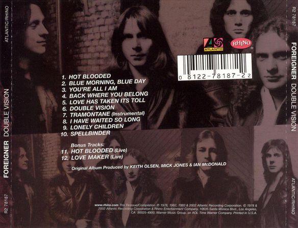 Double Vision (Bonus Tracks) (Rmst)