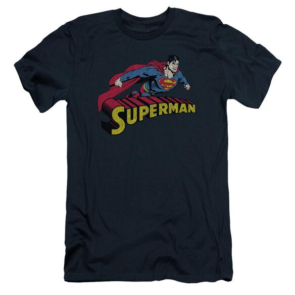 Superman Flying Over Short Sleeve Adult T-Shirt