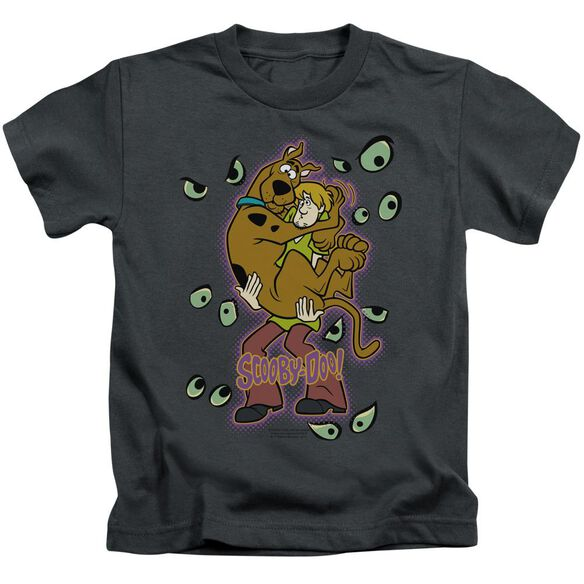 Scooby Doo Being Watched Short Sleeve Juvenile Charcoal T-Shirt