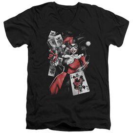 BATMAN SMOKING GUN - S/S ADULT V-NECK - BLACK T-Shirt