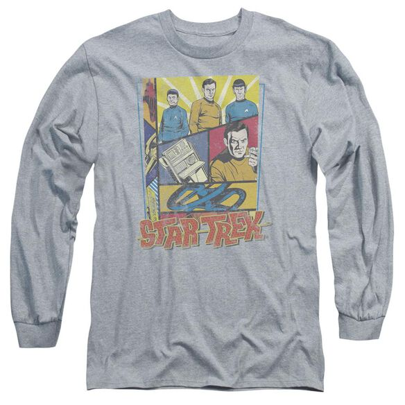Star Trek Vintage Collage Long Sleeve Adult Athletic T-Shirt