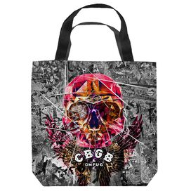 Cbgb Flying Skull Tote Bag