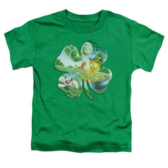 Looney Tunes Tweety Shamrock Short Sleeve Toddler Tee Kelly Green T-Shirt