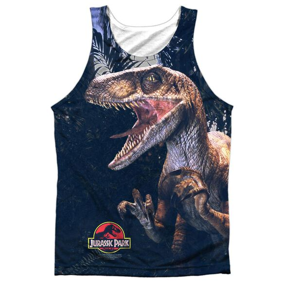 Jurassic Park Raptors Adult 100% Poly Tank Top