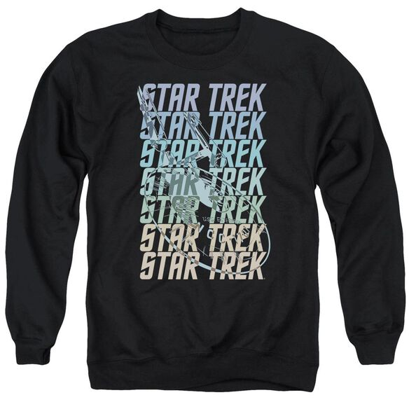 Star Trek Multi Logo Enterprise Adult Crewneck Sweatshirt