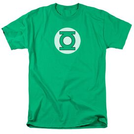 DC GREEN LANTERN LOGO - S/S ADULT 18/1 - Kelly Green T-Shirt