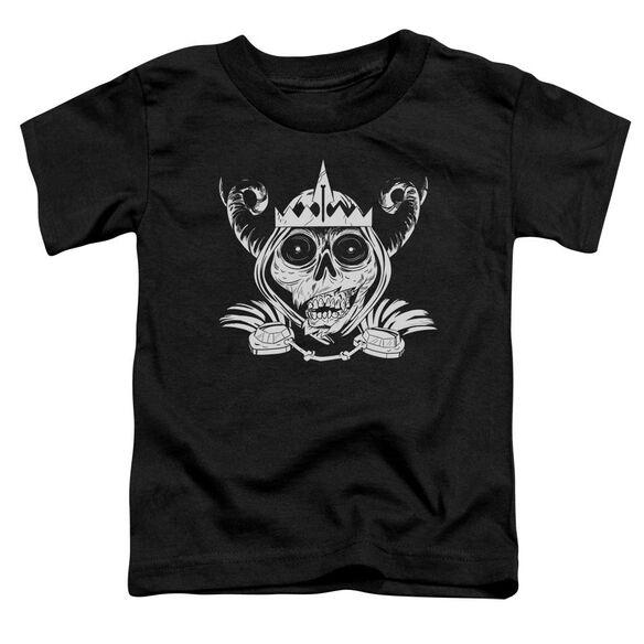 Adventure Time Skull Face Short Sleeve Toddler Tee Black T-Shirt