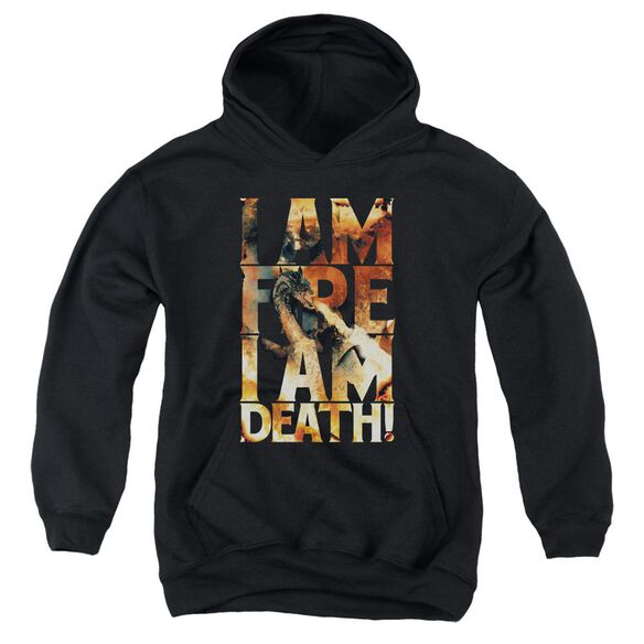 Hobbit I Am Fire Youth Pull Over Hoodie