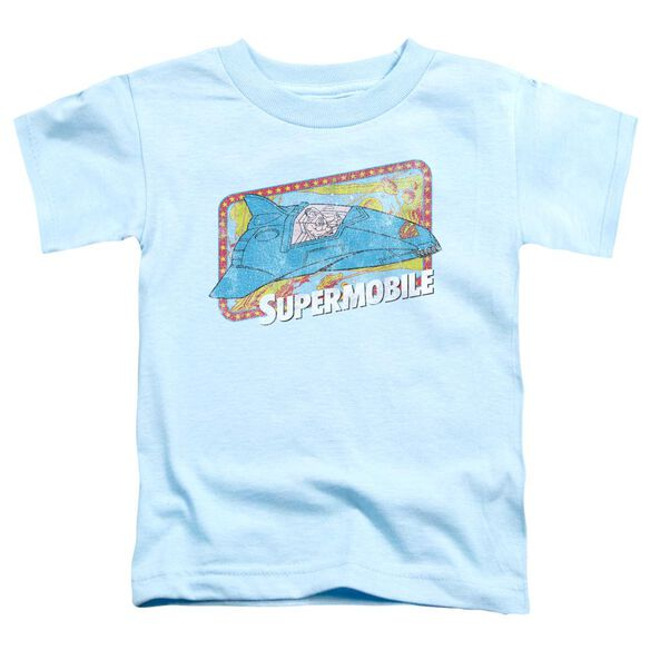 Dc Supermobile Short Sleeve Toddler Tee Light Blue Sm T-Shirt