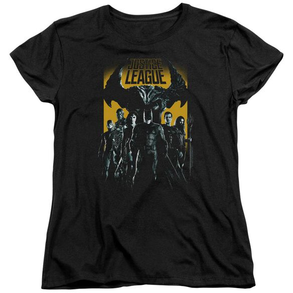 Justice League Movie Stand Up To Evil Short Sleeve Womens Tee T-Shirt