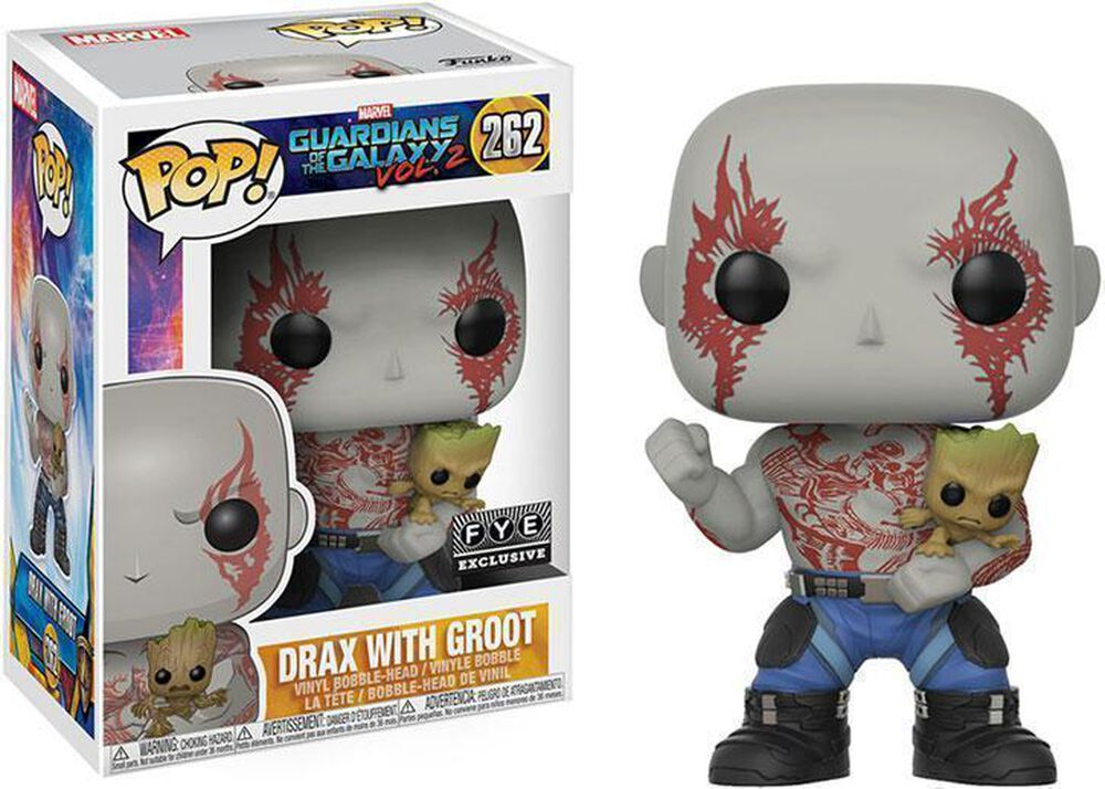 Drax Holding Groot Exclusive Funko Pop Fye