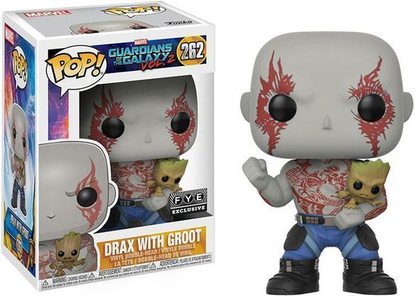 Drax Holding Groot Exclusive Funko Pop