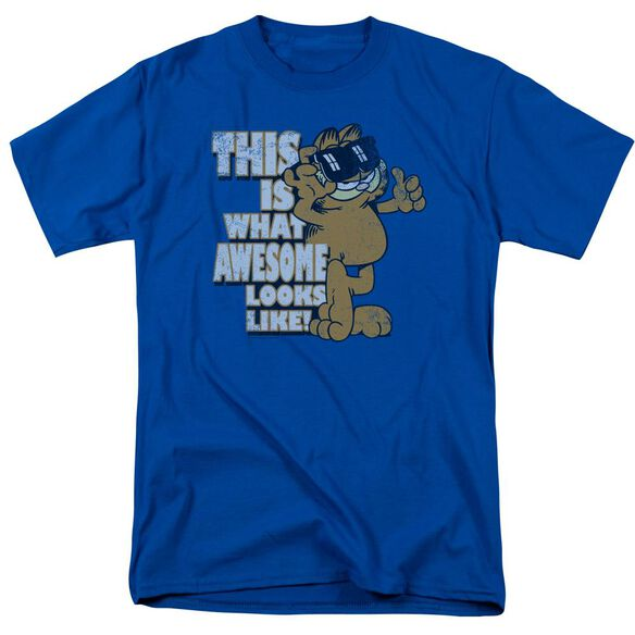 GARFIELD AWESOME - S/S ADULT 18/1 - ROYAL BLUE T-Shirt