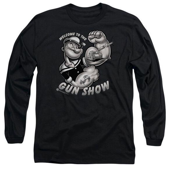 Popeye Gun Show Long Sleeve Adult T-Shirt