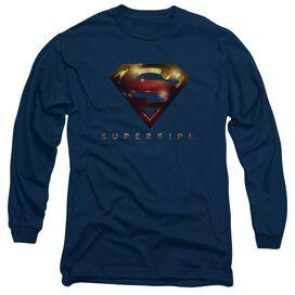 Supergirl Logo Glare Long Sleeve Adult T-Shirt