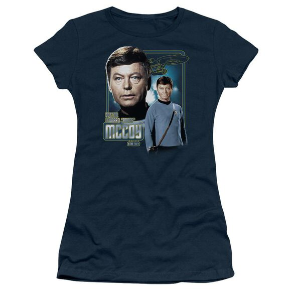 Star Trek Doctor Mccoy Short Sleeve Junior Sheer T-Shirt