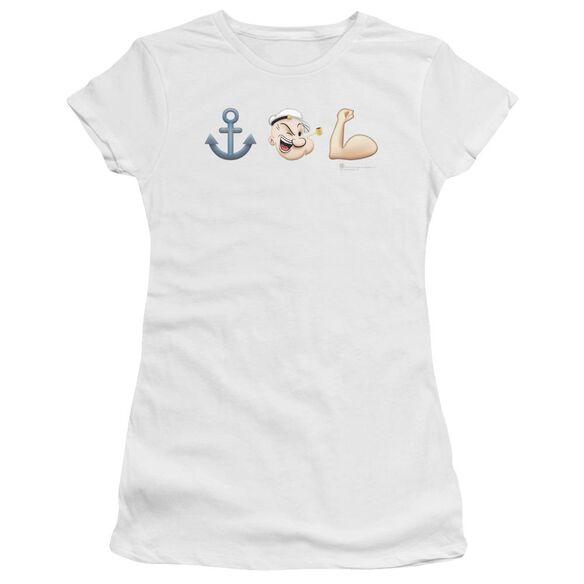 Popeye Emoji Premium Bella Junior Sheer Jersey