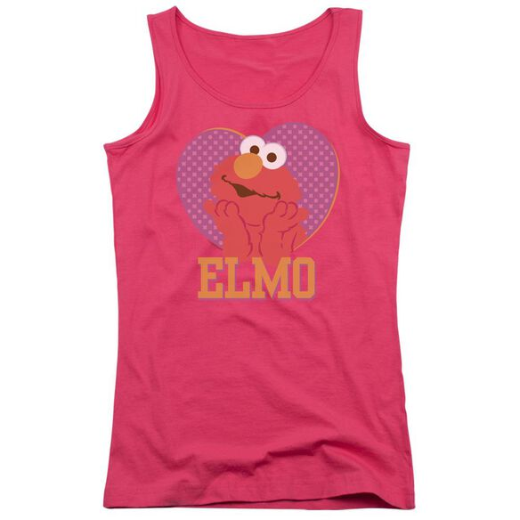 Sesame Street Patterned Elmo Heart Juniors Tank Top Hot