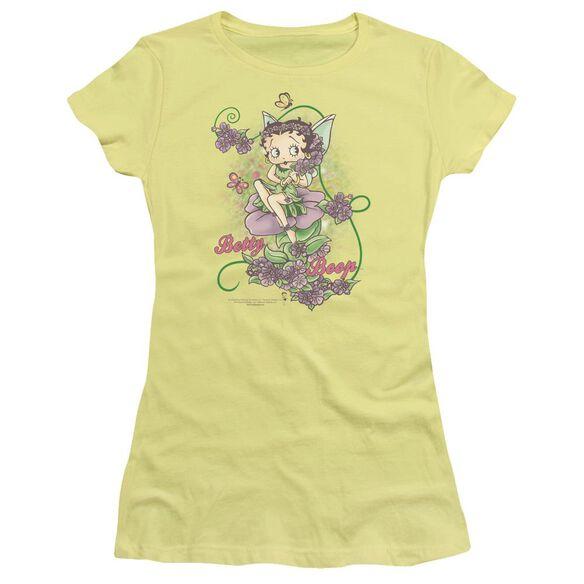 Betty Boop Flower Vine Fairy Short Sleeve Junior Sheer T-Shirt