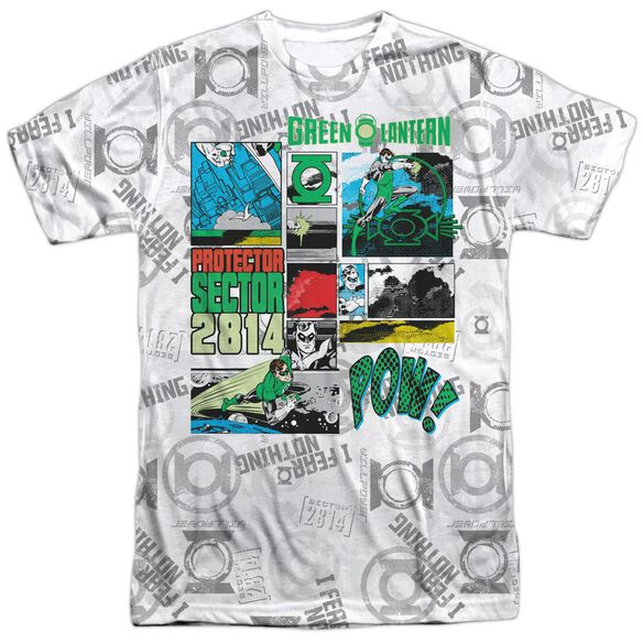 Green Lantern Sector Protecto Short Sleeve Adult 100% Poly Crew T-Shirt