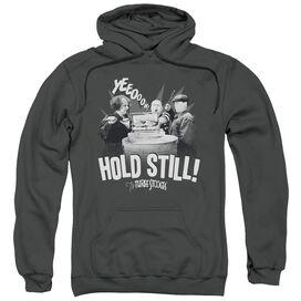 Three Stooges Hold Still Adult Pull Over Hoodie