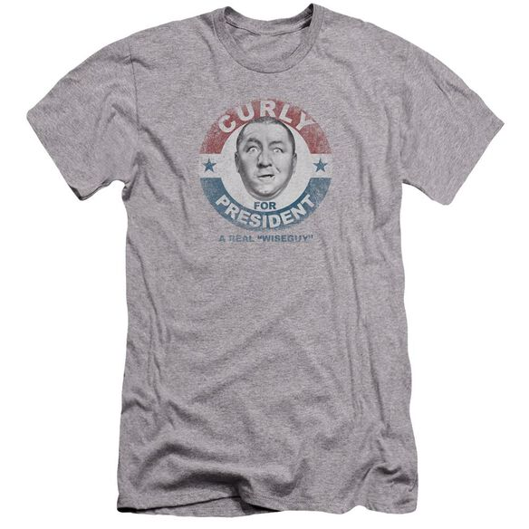 Three Stooges Curly For President Premuim Canvas Adult Slim Fit Athletic