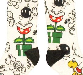 Nintendo Mario Enemy Collage Socks