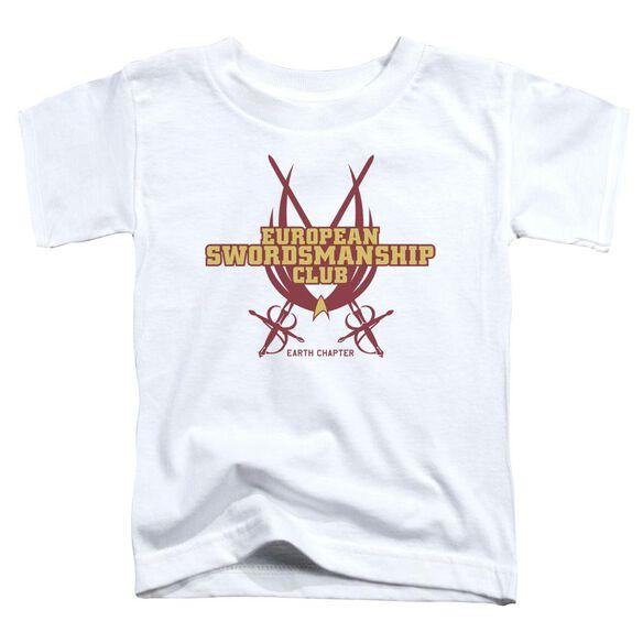 Star Trek Swordsmanship Club Short Sleeve Toddler Tee White Sm T-Shirt
