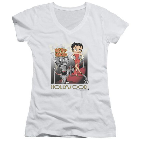 Betty Boop Hollywood Junior V Neck T-Shirt