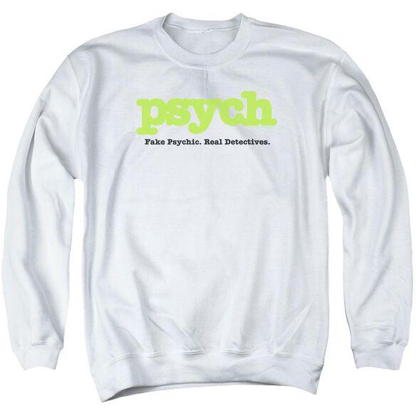 Psych Title Adult Crewneck Sweatshirt