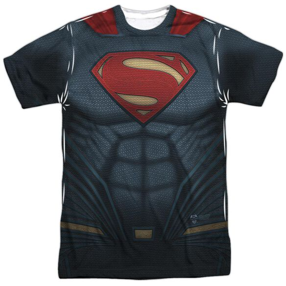 Batman V Superman Superman Uniform Short Sleeve Adult Poly Crew T-Shirt