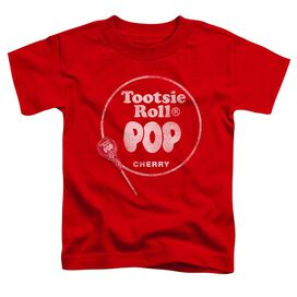 Tootsie Roll Tootsie Roll Pop Logo Short Sleeve Toddler Tee Red Lg T-Shirt