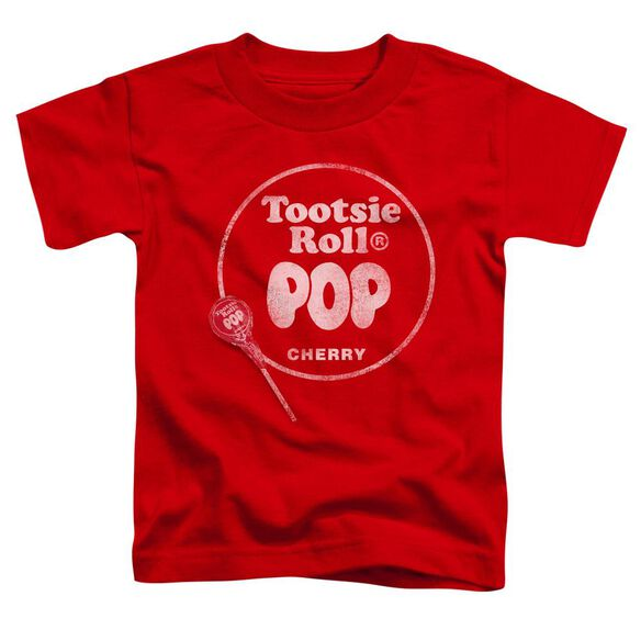 Tootsie Roll Tootsie Roll Pop Logo Short Sleeve Toddler Tee Red Lg T-Shirt