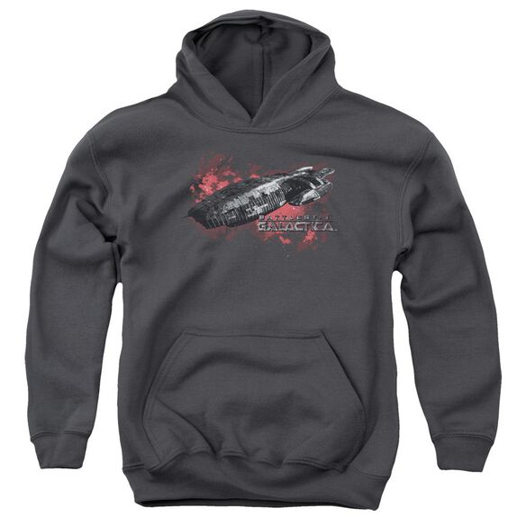 Bsg Galactica Youth Pull Over Hoodie
