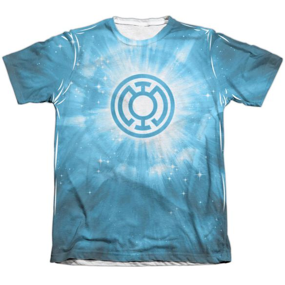 Green Lantern Blue Energy Adult 65 35 Poly Cotton Short Sleeve Tee T-Shirt