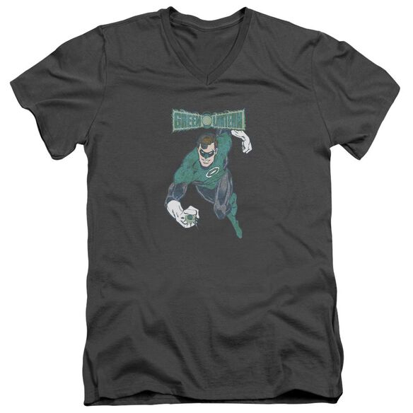 Dco Desaturated Green Lantern Short Sleeve Adult V Neck T-Shirt