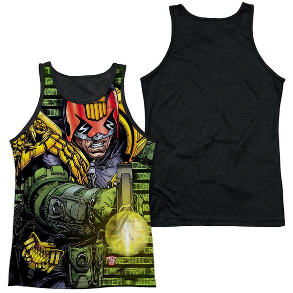 Judge Dredd Matrix Adult Poly Tank Top Black Back
