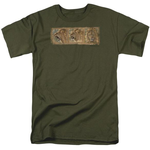 Wildlife Mood Swing Short Sleeve Adult Military Green T-Shirt
