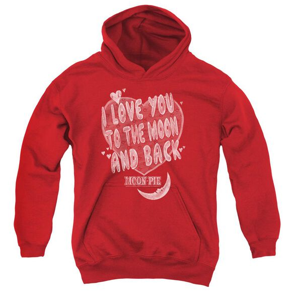 Moon Pie I Love You Youth Pull Over Hoodie