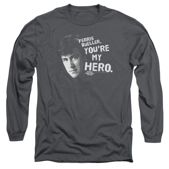 Ferris Bueller My Hero Long Sleeve Adult T-Shirt