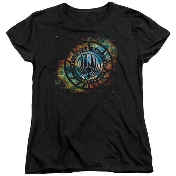 Battlestar Galactica (New) Emblem Knock Out Short Sleeve Womens Tee T-Shirt
