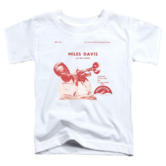 Miles Davis The New Sounds Short Sleeve Toddler Tee White T-Shirt