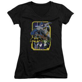 Batman Unlimited Unlimited Villains Junior V Neck T-Shirt