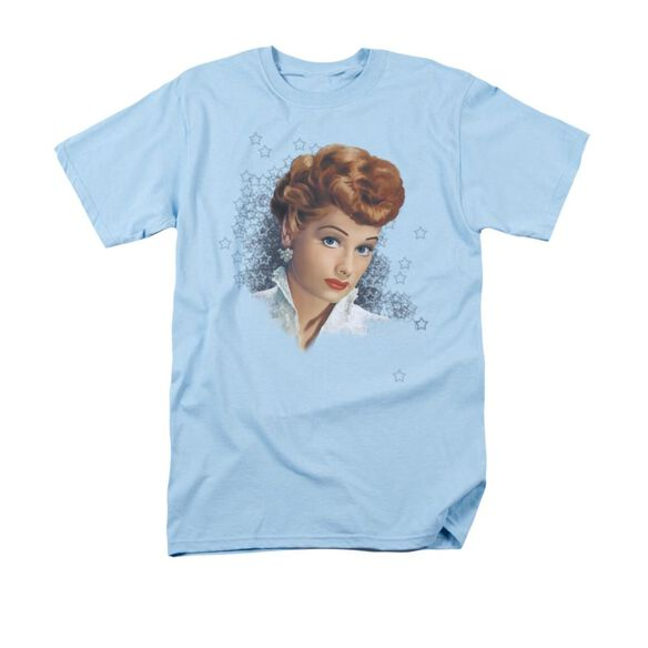 I Love Lucy What A Star Short Sleeve Adult Light Blue T-Shirt